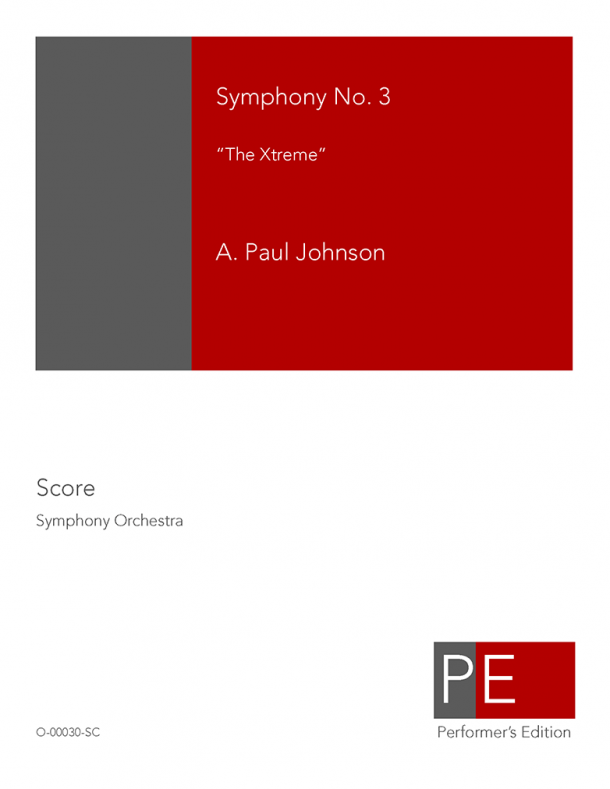 "Johnson: Symphony No. 3 ""The Xtreme"""