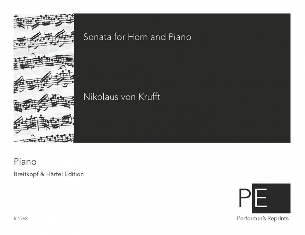 Krufft - Sonata for Horn and Piano in E major - Piano Part