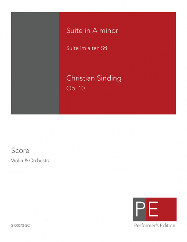 Sinding: Suite in A minor