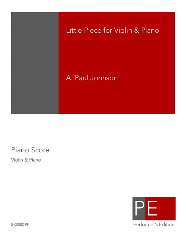 Johnson: Little Piece for Violin & Piano